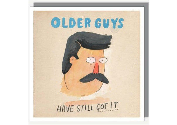 older guys have still got it, birthday card, gifts, quirky coo, dundee