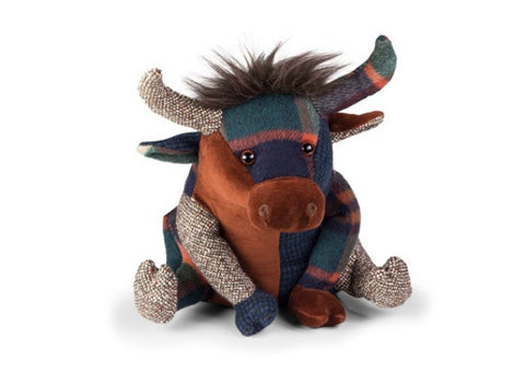 Patchwork Highland Cow Doorstop by Dora Design