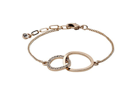 Interlinked Rose Gold or Silver Bracelet by Pilgrim