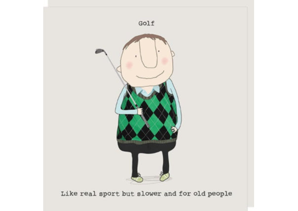 Golf - Like Sport for Old People - Birthday Card