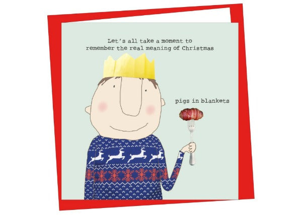 pigs in blankets christmas card - quirky coo, gifts, perth dundee