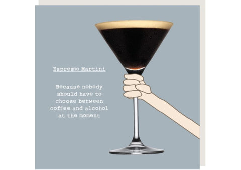 Espresso Martini - Greeting Card