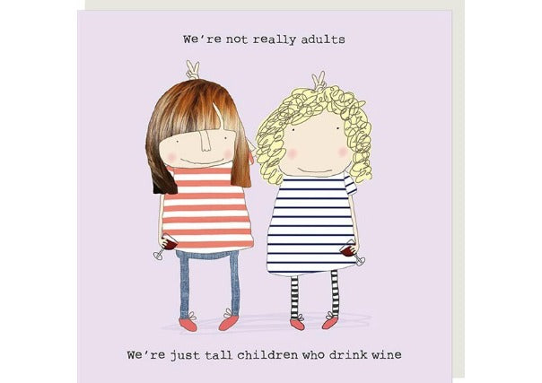 quirky coo, tall children drink wine card - rosie made a thing, cards gifts, dundee