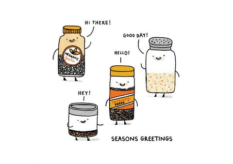 Seasons Greetings Christmas Card