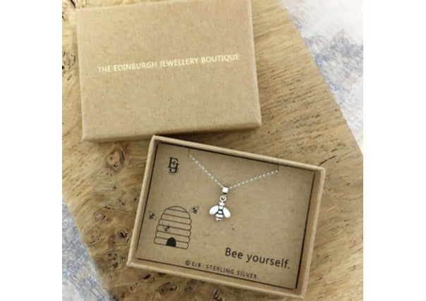 bee pendant necklace - quirky gifts, scottish, jewellery, dundee, perth, aberdeen