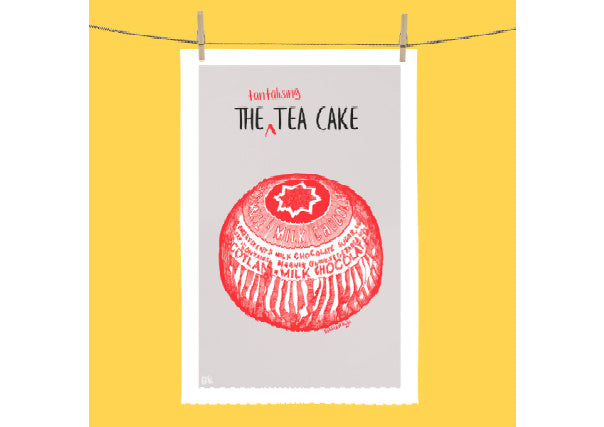Tunnocks Tantalising Teacake Tea towel by Gillian Kyle
