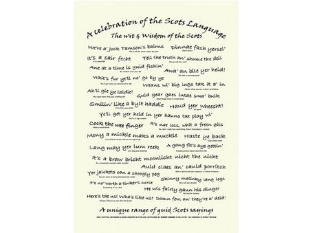 Wit and wisdom of the Scots Language Teatowel