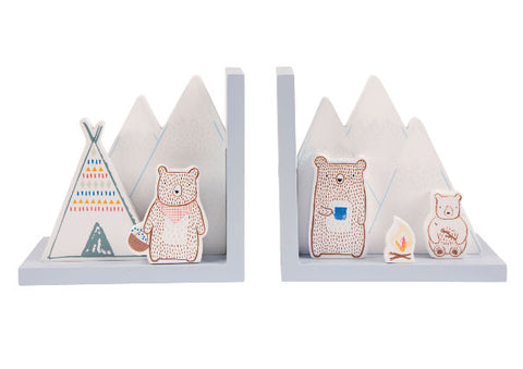 Bear Camp Bookends by Sass & Belle