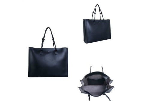 Black Tote Bag with knotted strap by Red Cuckoo