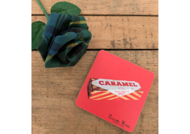 quirky coo scottish gifts - tunnocks caramel wafer coaster