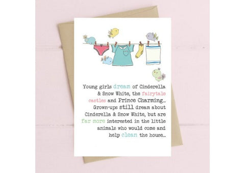 Cinderella/Snow White - Birthday Card