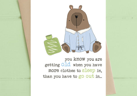 Clothes to Sleep in - Birthday Card