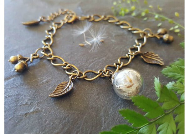 quirky coo - dandelion bracelet scottish jewellery dundee, perth, aberdeen