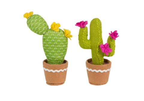 Colourful Cactus Fabric Decoration by Sass & Belle