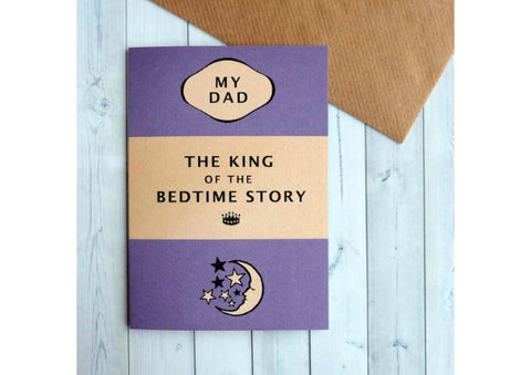 King of Bedtime Stories - Father's Day card