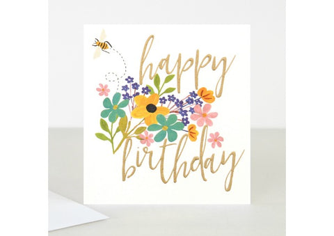 Happy Birthday Bouquet Bee - Caroline Gardner Birthday Card