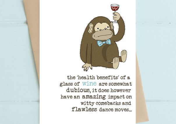 Health Benefits of Wine - Birthday Card