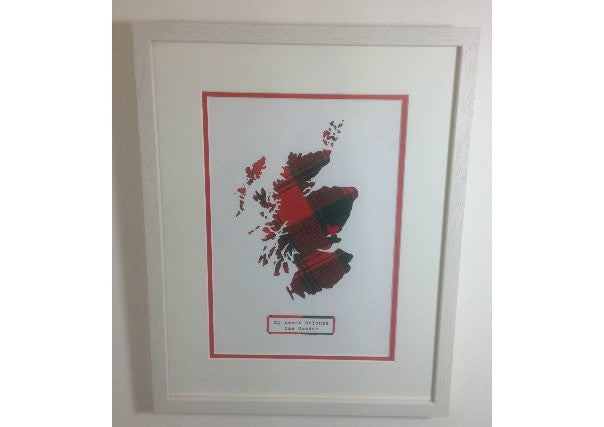 heart belongs to dundee framed picture - quirky coo, gifts, scottish, dundee