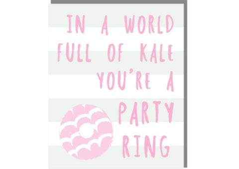 In a world full of kale - Card by Rosie Made A Thing