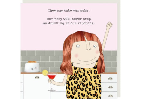 Kitchen Drinking - Greeting Card by Rosie Made a Thing