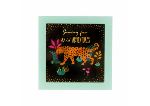 "Leopard ""Wild Adventures"" Money Savings Box"