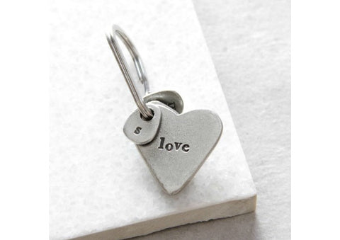 Love heart shaped Keyring by Kutuu
