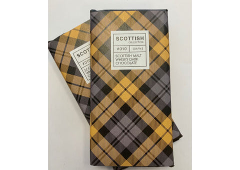 Scottish Malt Whisky Dark Chocolate Bar