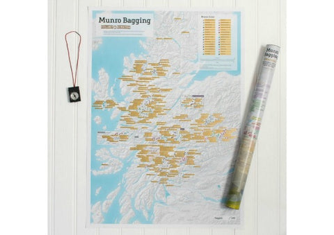 Munro Bagging Scratch Map