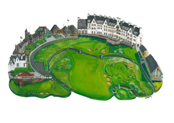 Carnoustie Print by Nik Kleppang - quirky coo ,gifts, perth dundee