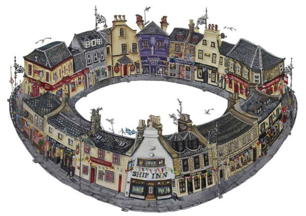 Broughty Ferry print - nik kepplang, dundee, scottish gifts