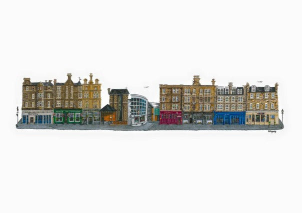 Print of Perth Road Pubs, Dundee - Pints, Picture, gifts, scottish, perth