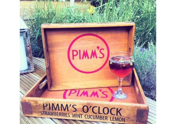 Wooden Pimms Tray
