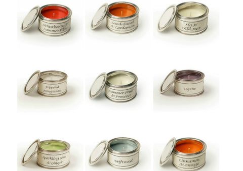Candle Tins by Pintail Candles
