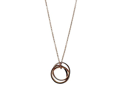 f9ed0bfcc69212 3 Hoop Rose Gold Necklace by Pilgrim