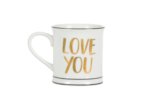Gold Love You Mug