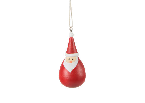 Round Red Santa Hanging Decoration