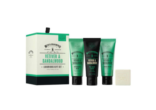 Scottish Fine Soaps - men gift set, vetiver sandalwood, dundee, perth, aberdeen