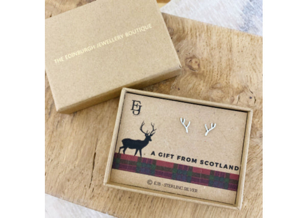 antler earrings - quirky gifts, scottish, jewellery, dundee, perth, aberdeen