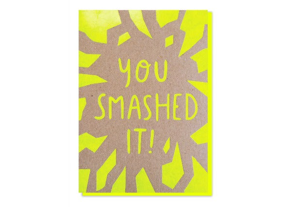 you smashed it! Congratulations Graduation card - quirky coo cards gifts dundee perth aberdeen