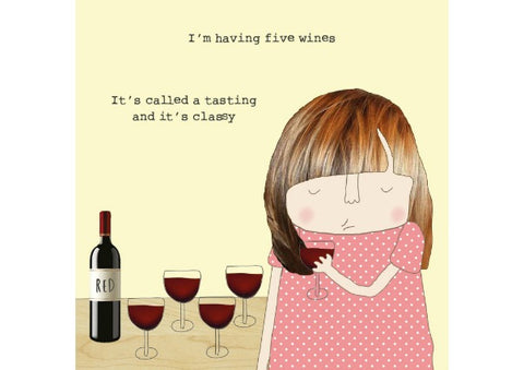 Classy Wine Tasting-  Card by Rosie Made a Thing