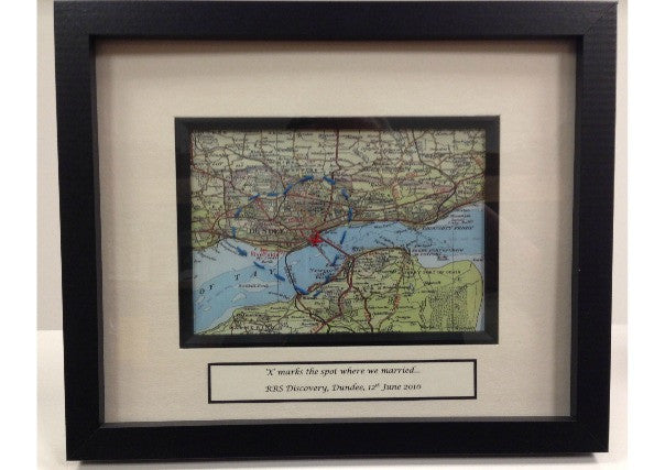 """X marks the spot"" personalised vintage maps"