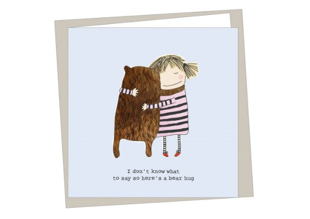 Bear Hug Card - quirky coo, gifts, cards, dundee