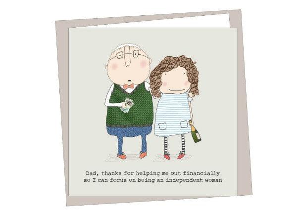 independent woman father's day card - quirky coo, cards, gifts, dundee, scottish