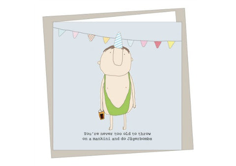 Mankini Birthday Card