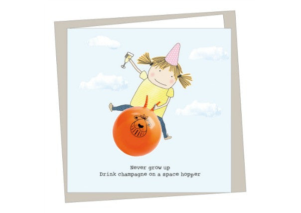 Never grow up birthday card - quirky coo, gifts, cards, dundee