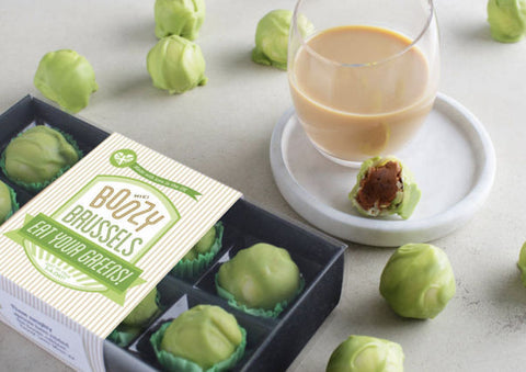 Boozy Chocolate Brussels Sprouts - with Baileys