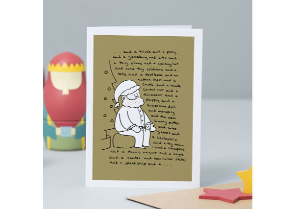 I want Christmas Card - quirky cards and gifts dundee, perth, aberdeen