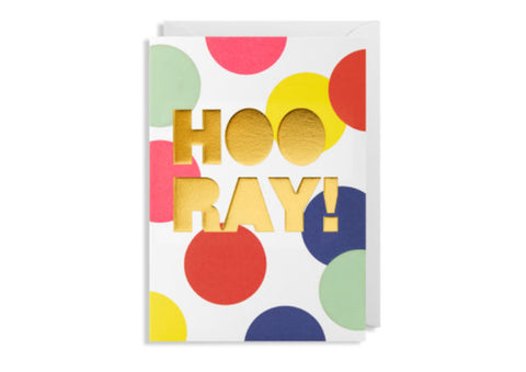 Hooray / Well Done - Greeting Card