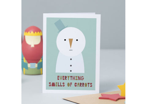 Everything Smells of Carrots - Christmas Card
