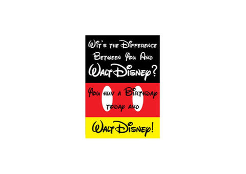 Walt Disney Scottish - Birthday Card